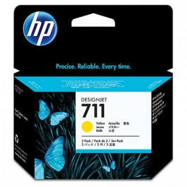 CZ132A  HP 711 Yellow  Ink Cartridge