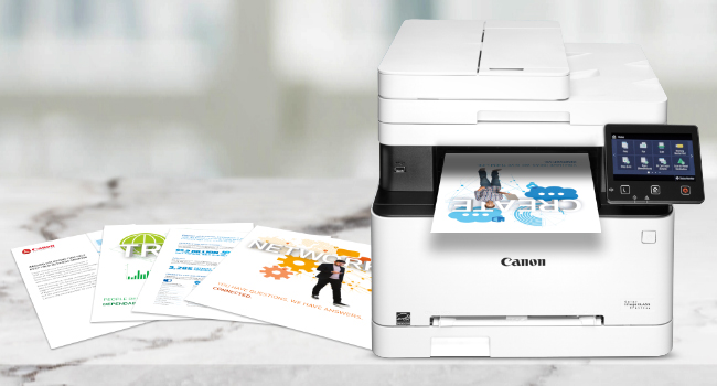Toner 054 is used with Canon Color imageCLASS MF640 Series